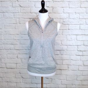 Nike quarter zip kangaroo pocket vest with hood